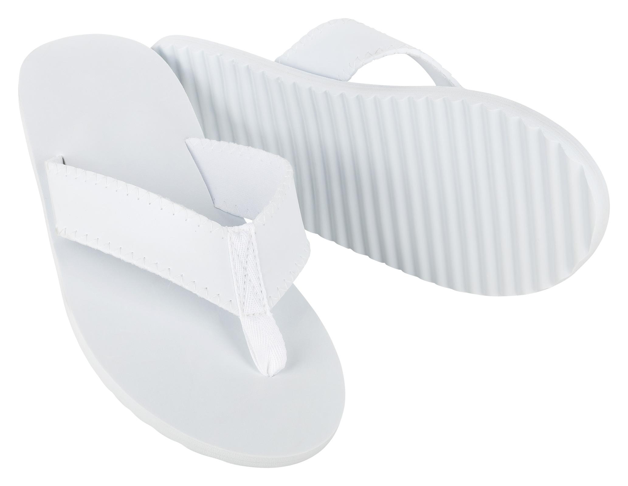 5 Paar MOON Pool Flip-Flop weiß Wellness Slipper Hotelslipper weiß 10mm EVA Gummi Sohle für Sauna, Spa und Poolbereich
