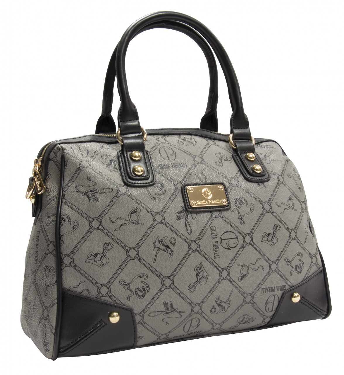 Giulia Pieralli Damen Handtasche Damentasche 2622B in Grau