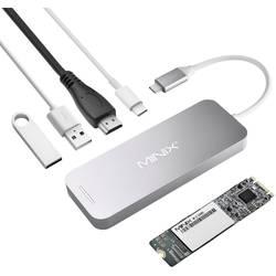 Minix Notebook Dockingstation NEO Storage Hub / NEO S1 120 GB SSD Grau Passend für Marke (Notebook Dockingstations): Apple MacBook, MacBook Air, MacBook Pro