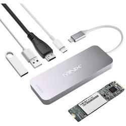 Minix Notebook Dockingstation NEO Storage Hub / NEO S2 240 GB SSD Grau Passend für Marke (Notebook Dockingstations): Apple MacBook, MacBook Air, MacBook Pro