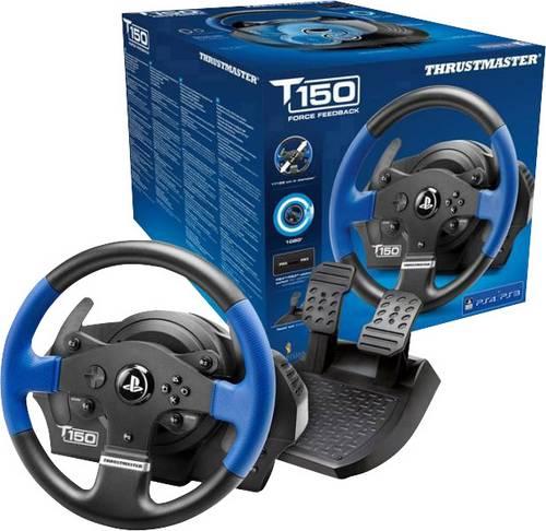 Thrustmaster T150 RS Force Feedback Lenkrad USB 2.0 PlayStation 3, PlayStation 4, PC Schwarz, Blau i