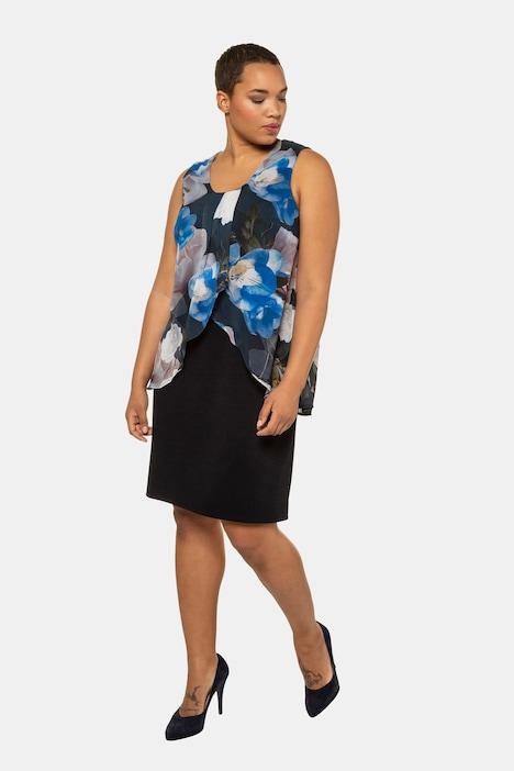 Grosse Grössen Abendkleid, Damen, blau, Größe: 62/64, Polyester, Ulla Popken