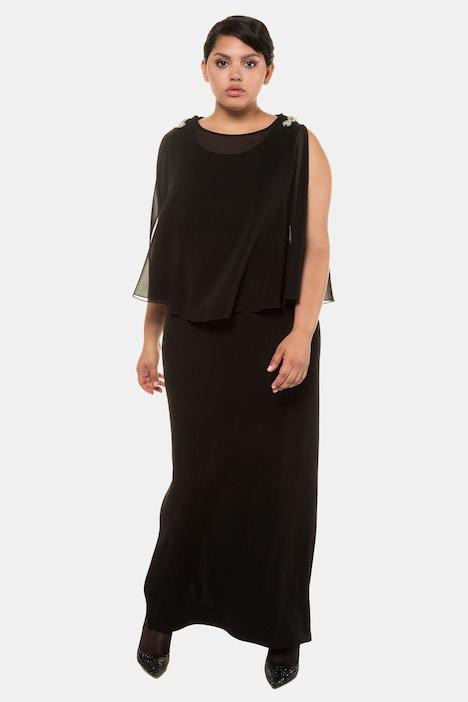 Grosse Grössen Abendkleid, Damen, schwarz, Größe: 44, Polyester/Elasthan, Ulla Popken