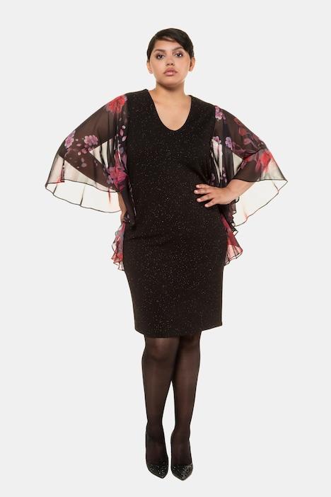 Grosse Grössen Abendkleid, Damen, schwarz, Größe: 42, Polyester, Ulla Popken