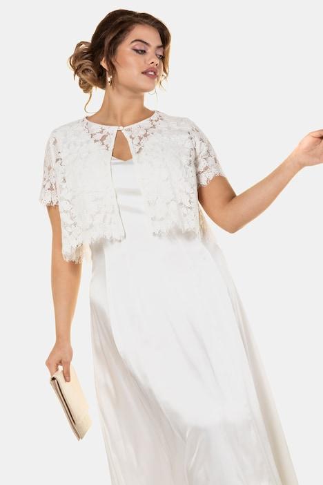 Grosse Grössen Brautkleid, Damen, beige, Größe: 42, Viskose/Polyester, Ulla Popken