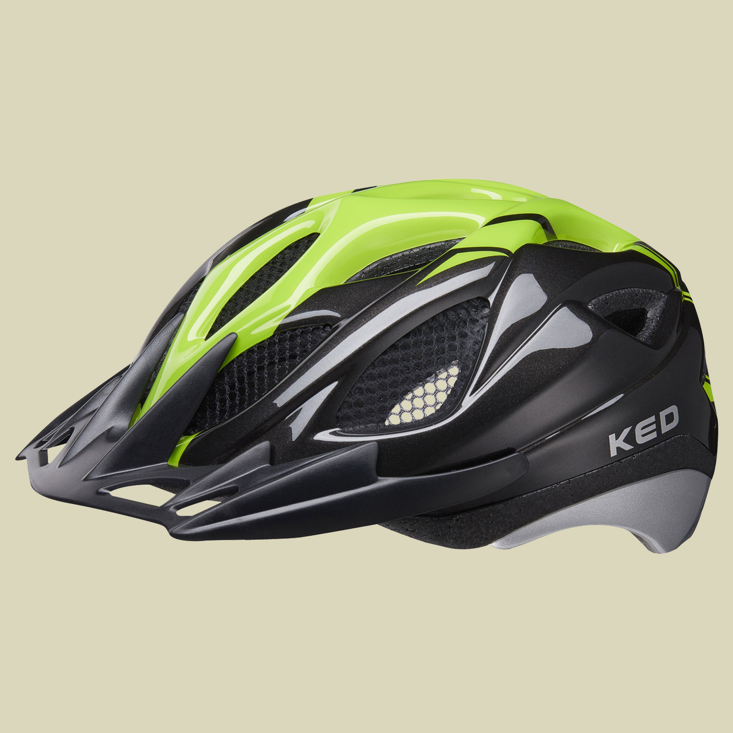 KED, Tronus, Kopfumfang M 52-56, Unisex Fahrradhelm, black green