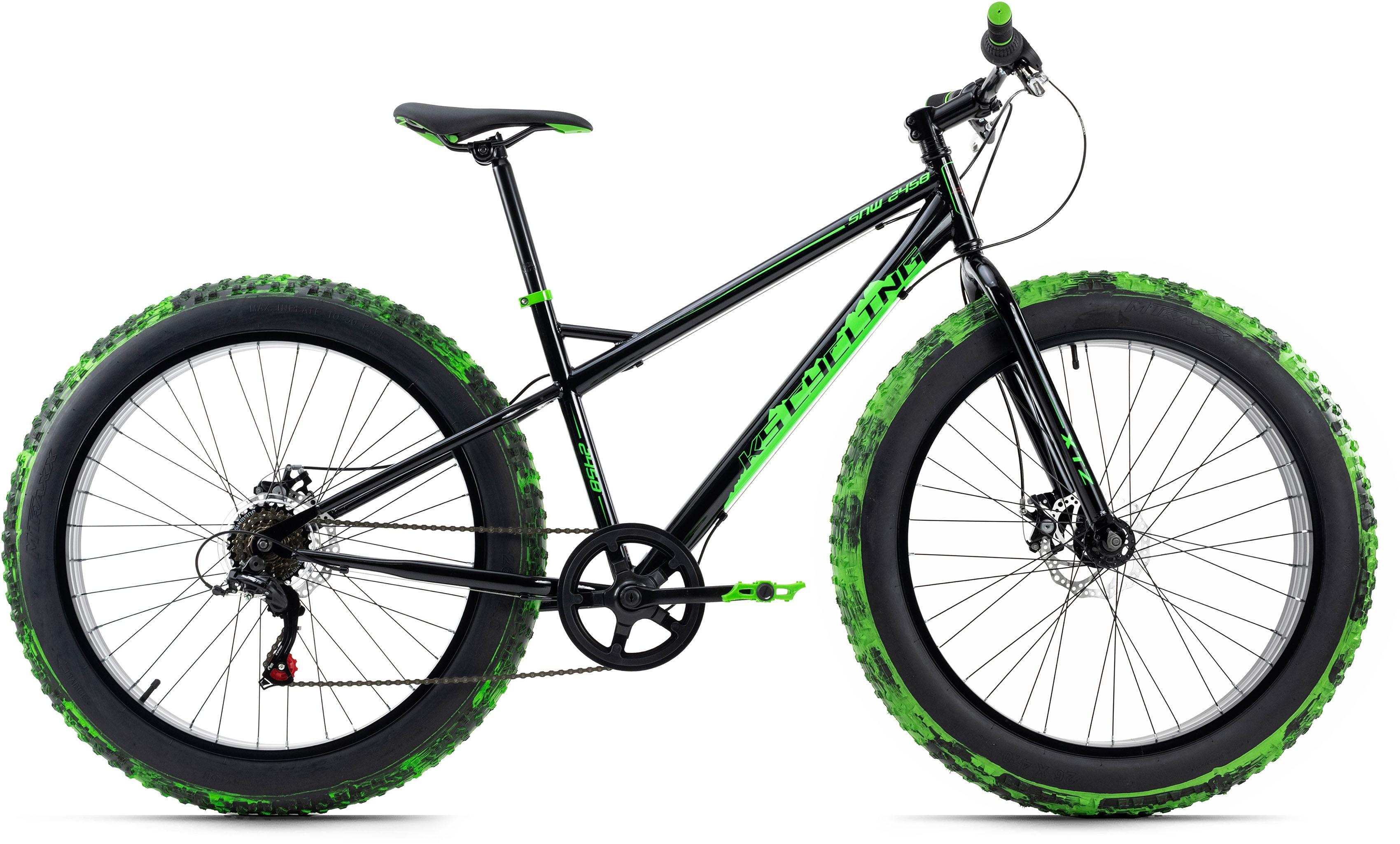 KS Cycling Fatbike SNW2458, 6 Gang, Shimano, Tourney Schaltwerk, Kettenschaltung