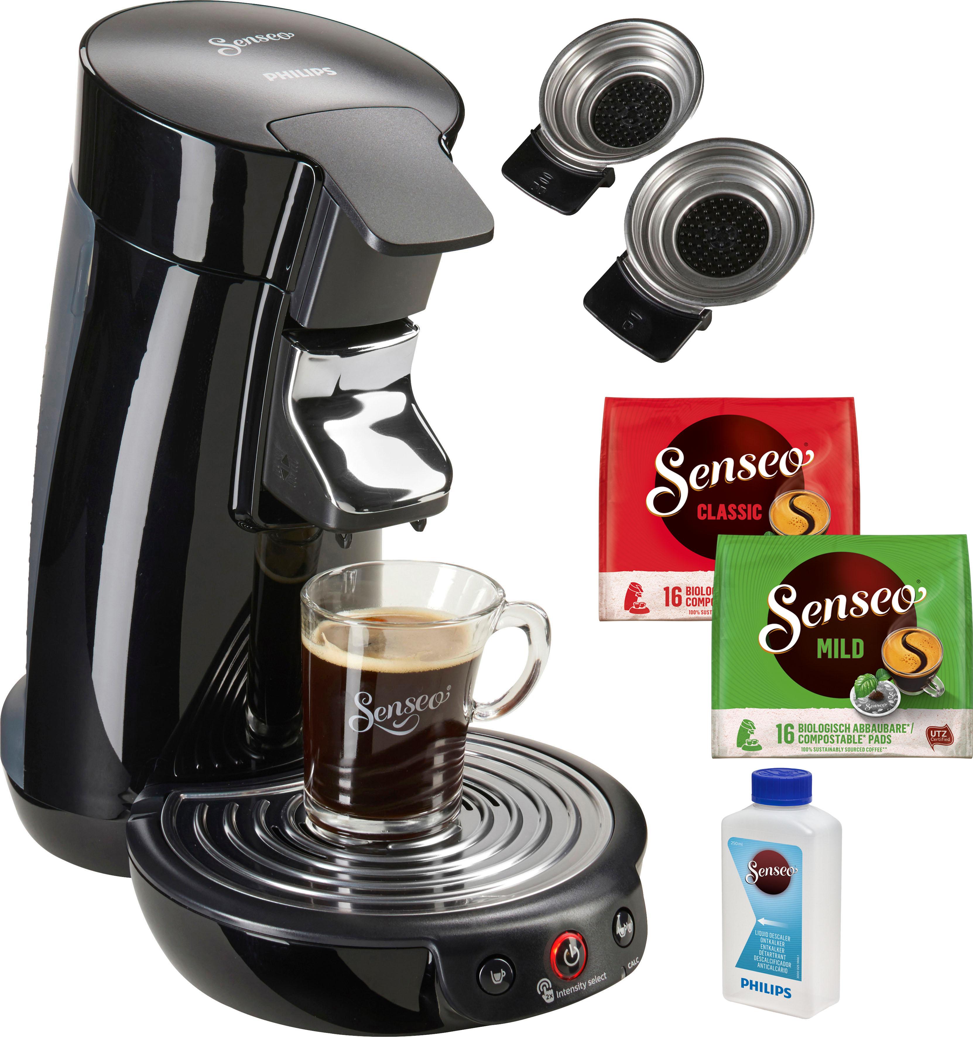 Senseo Kaffeepadmaschine SENSEO Viva Café HD6563/60, inkl. Gratis-Zugaben im Wert von 14,- UVP