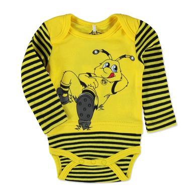 BVB -Babybody gestreift - gelb - Gr.Babymode (6 - 24 Monate) - Unisex