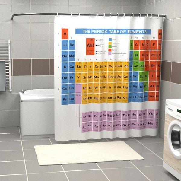 Periodensystem Duschvorhang