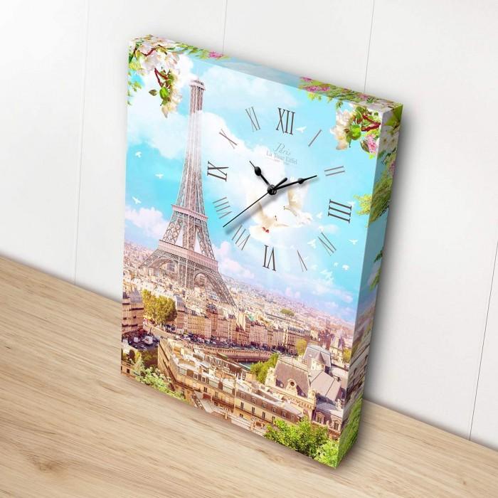 Pintoo - Leinwand mit Uhr - Spring in Paris - 366 Teile
