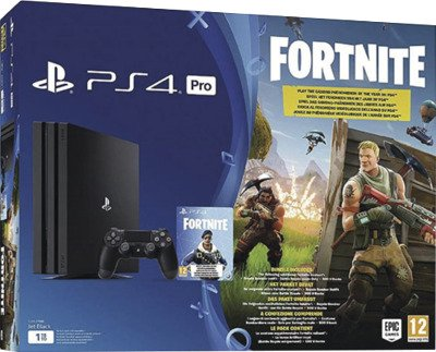 Sony Playstation 4 PS4 PRO Konsole 1 TB + Fortnite