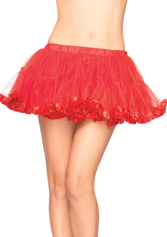 Petticoat Mit Plissee Satin Saum