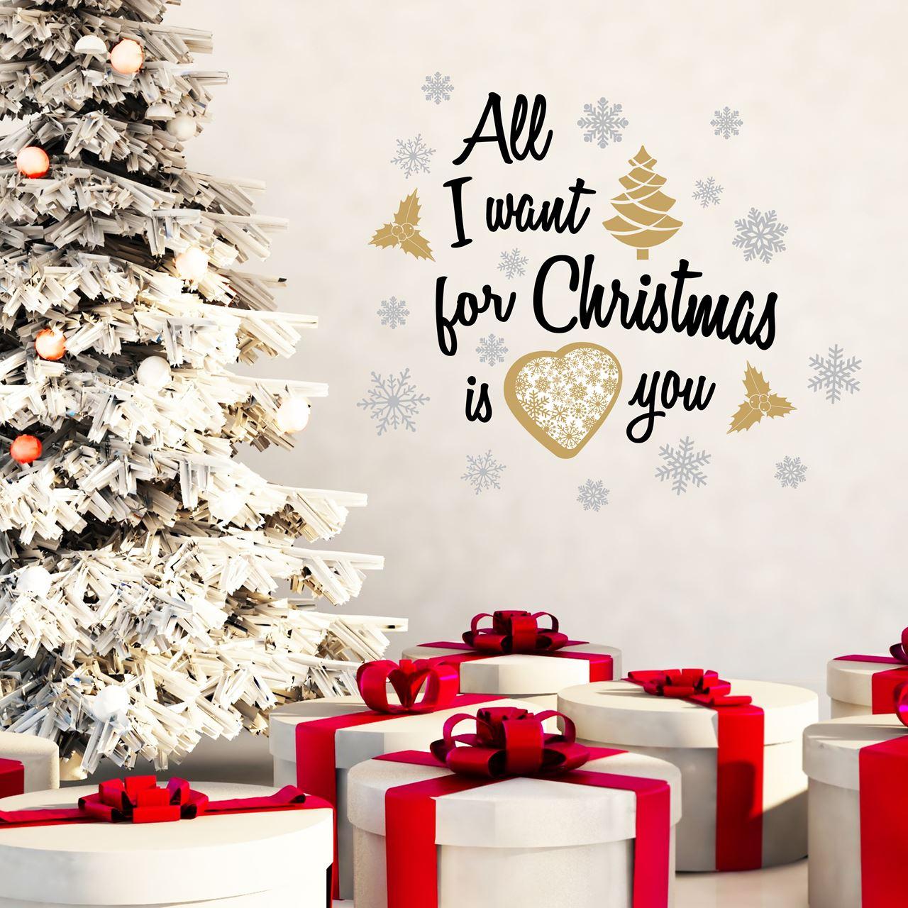 Walplus Home Dekoration Wandaufkleber - Alles was ich für Weihnachten wünsche