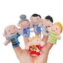 6 tlg. Fingerpuppen-Set 'Familie'
