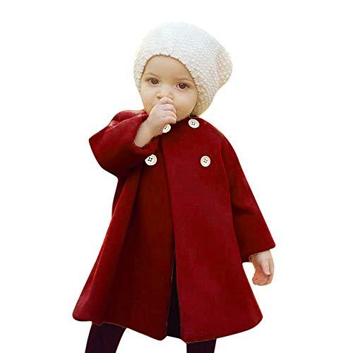 Winterjacken Mode Schwarzer Baby Mädchen Jungen Wollmantel Übergangsjacke Baumwolle Baby Mädchen Jungen Strick Baby Mädchen Jungen Gefütterte Winterjacke Winter Wollmantel Schwarz