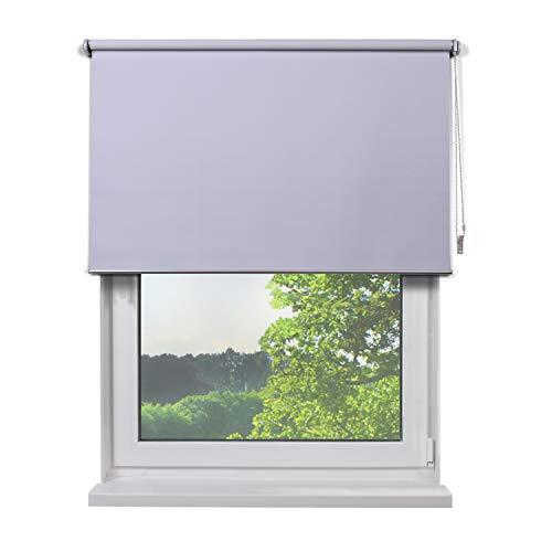 Fertig Verdunkelungs-Rollo, 180 x 180 cm (BxH), Farbe Weiß, zum Bohren und Schrauben, verdunkelnd und Blickdicht, Rollos für Fenster, Seitenzug-Rollo