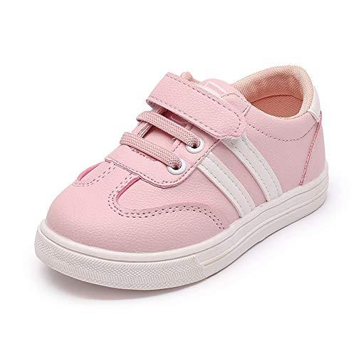 ZHANSANFM Baby Mädchen Sneaker Süß Slip On Kleinkind Lauflernschuhe Basic Casual Einzelnen Schuhen Outdoor Sport Running Freizeitschuhe Atmungsaktive Turnschuhe Kinderschuhe 20 EU Rosa