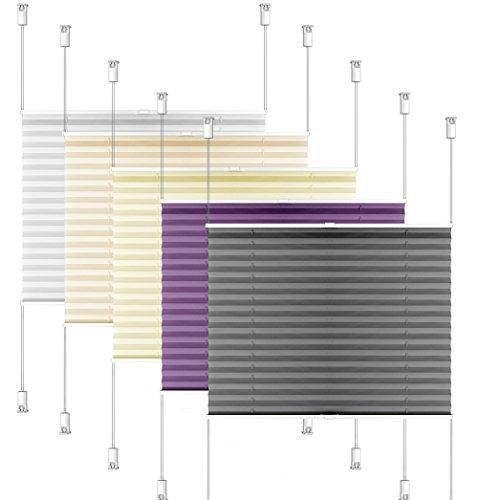 SIENOC Plissee Klemmfix Fenster Plissee Rollo Sonnenschutz Ohne Bohren Rollo Fenster & Türen inkl. Zubehör (Grau, 50x130 cm)