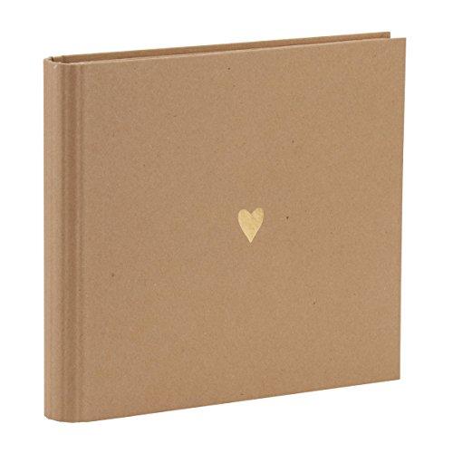 Rössler Papier - Serie Pure Love, Kraft - Wire-o Gäste-/Fotobuch, Symbol