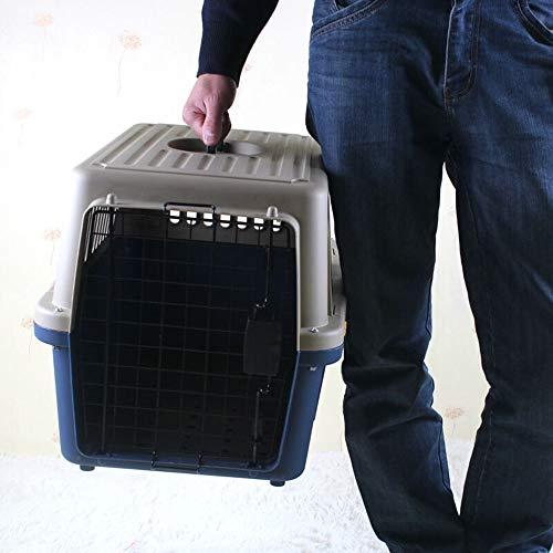 FXnn Pet Bag - Air Box Verdickung Pet Air Box Hund Katze Sendung Box Haustier Käfig Ausflug Lieferungen Tierbedarf/Katze/Hund (Farbe : Blau, größe : XXL)