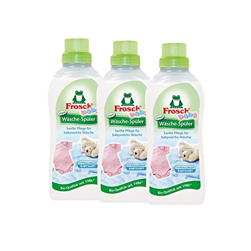 3x Frosch Baby Wäsche-Spüler 750 ml - Hypoallergen Babysanft