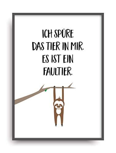 Kunstdruck TIER IN MIR Poster Bild ungerahmt DIN A4 Geschenk
