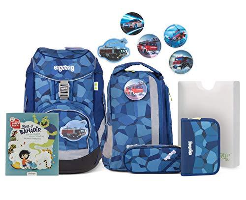ergobag Pack Ranzenset mit Gratis Superbuch Bea Bahadir TatütaBär, 25 x 22 x 35 cm, 1,1 kg, 20 Liter
