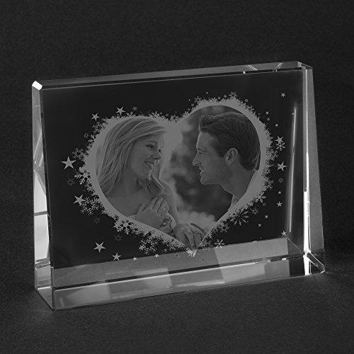 Personello® Originelle Fotogeschenke vom Glasfoto Spezialisten Eigenes Foto im Glas als Fotogeschenk - Premium Qualität Größe S = 80x60x25mm