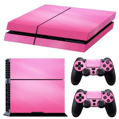 SODIAL(R) TOOGOO (R) Pink Vinyl Aufkleber Skin Sticker Cover für PS4Playstation 4Konsole und 2Controller