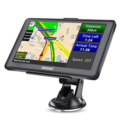 AWESAFE GPS Navi Navigation 7 Zoll Touchscreen Fur Auto PKW LKW Europa Traffic 8GB