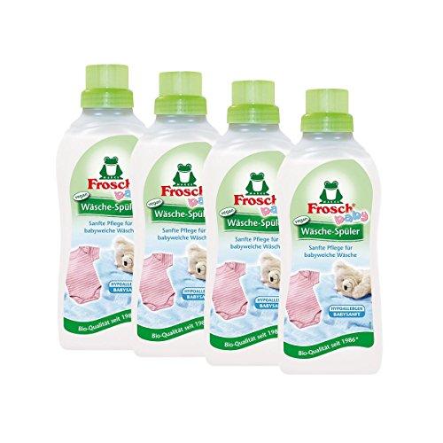 4x Frosch Baby Wäsche-Spüler 750 ml - Hypoallergen Babysanft