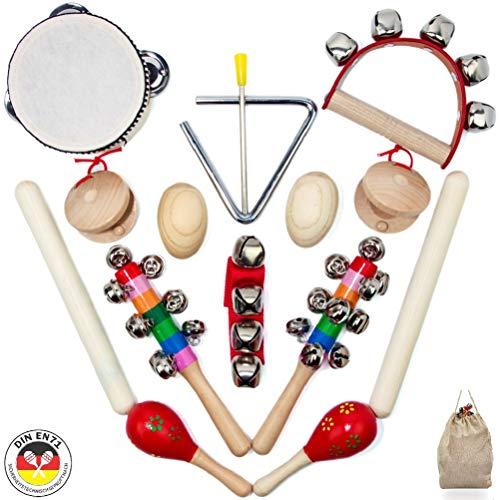 SCHMETTERLINE Musikinstrumente-Set für Kinder aus Holz - 15 TLG. Musik-Spielzeug mit Premium Rhythmus-Instrumenten ab 3 Jahre