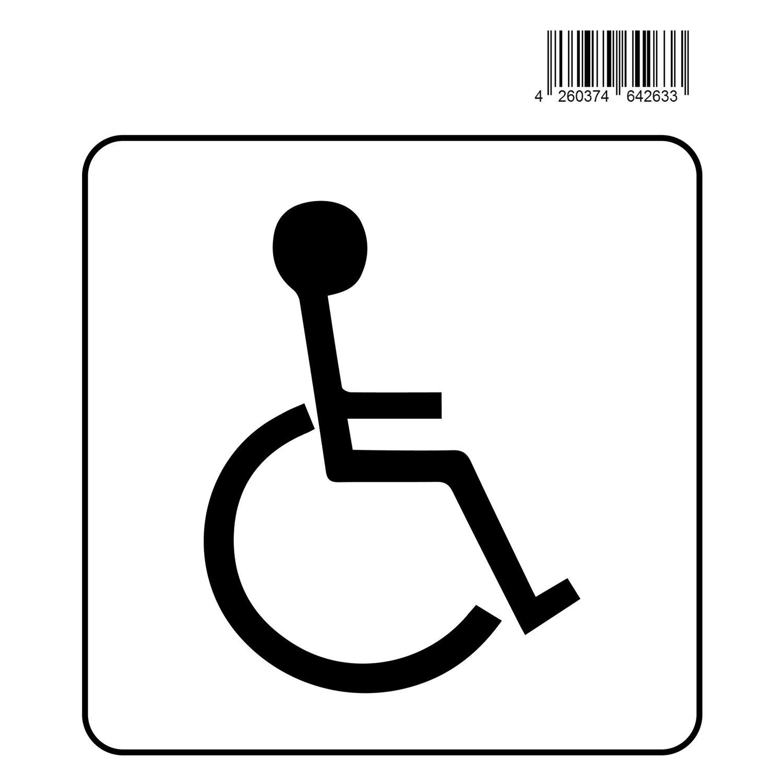 Aufkleber Rollstuhl 14 cm x 12 cm