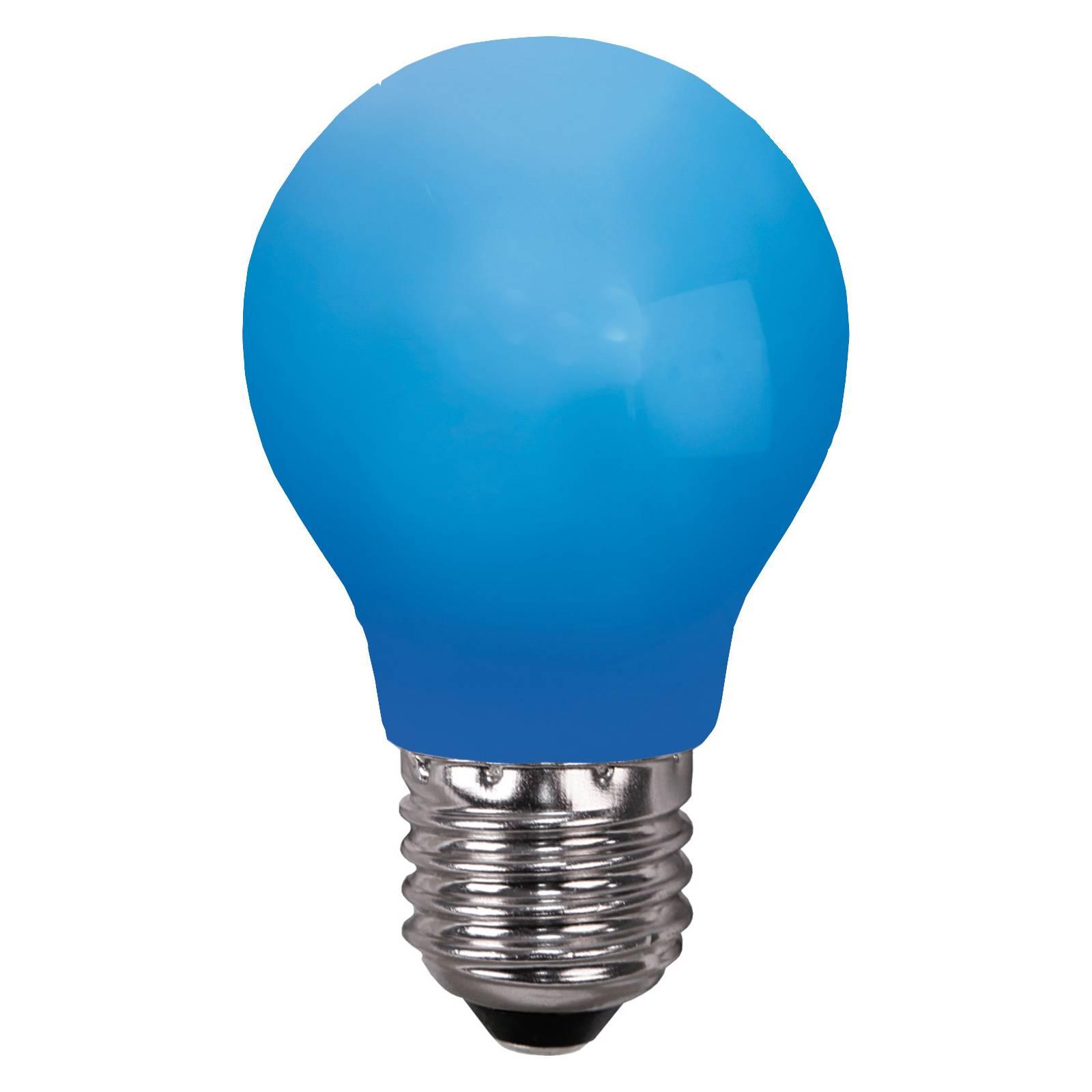 LED-Lampe E27 für Lichterketten, bruchfest, blau