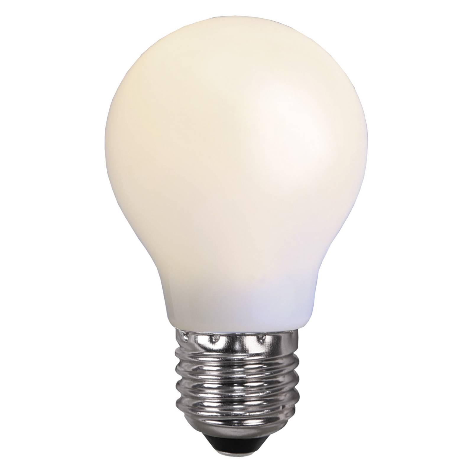 LED-Lampe E27 für Lichterketten, bruchfest, weiß