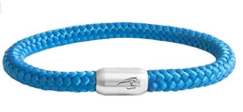 Unbekannt  Paris Montana Das Original Reitsport Pferde Jockey Club Segeltau Armband Mit Pferde Gravur Handmade Hochwertiger Magnetverschluss Durchmesser 8mm (Royal Blau, 19)