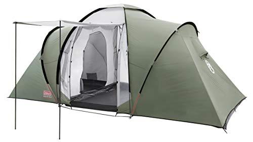 Coleman Zelt Ridgeline 4/6 Plus, 4/6 Mann Zelt, 4/6 Personen Vis-A-Vis Tunnelzelt, Campingzelt, Kuppelzelt mit Sonnendach, Wasserdicht WS 3.000mm
