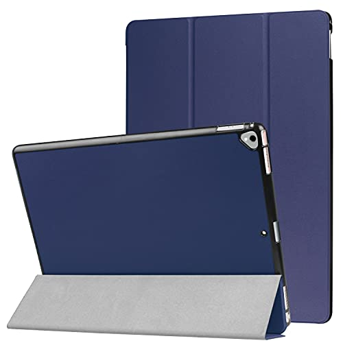 ZHIWEI Tablet PC Tasche Für Neue iPad Pro 12.9 2017/2015 Tablet Case Leichtgewichtiger Trifold-Stand PC. Hard Back Coverwith Trifold & Auto Wake, Schlaf (Color : Blue)