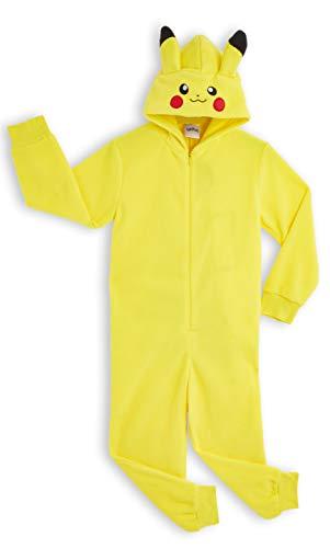 Pokémon Pikachu Schlafanzug, Kinder Jumpsuits Kostüm Tier Pyjama Onesie, Kuscheliger Kigurumi, Kostüm Kinder Jungen, Faschingskostüme, Perfektes Lustige Geek Cosplay Geschenk (13-14 Jahre)