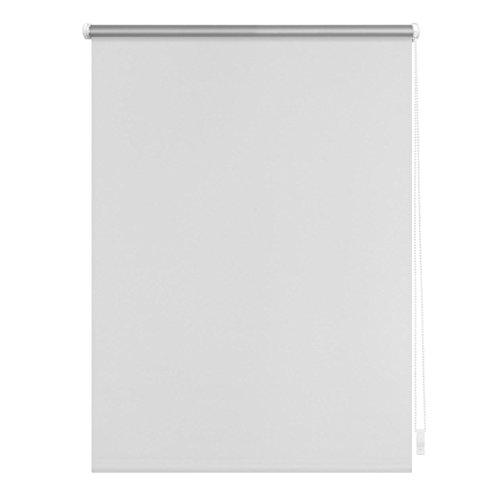 Lichtblick Verdunklungsrollo Klemmfix, 90 cm x 150 cm (B x L) in Weiß, ohne Bohren, Sonnen-, Sicht-, Hitze- & Kälte-Schutz, reflektierende Thermo-Rollo Funktion, Verdunkelung für Fenster & Türen