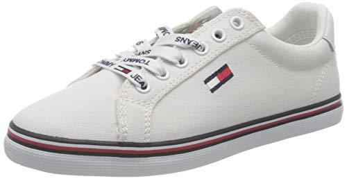 Tommy Hilfiger Damen Essential Lace Up Sneaker, White, 35 EU