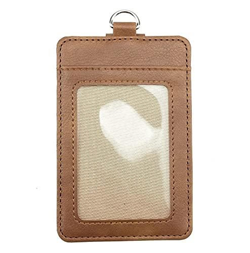 Mode Leder Id-Kartenhalter Lanyard Umh?ngeband Bankkarte Bus Card Pass Case Cover Kartenhalter B¨¹robedarf Nr.