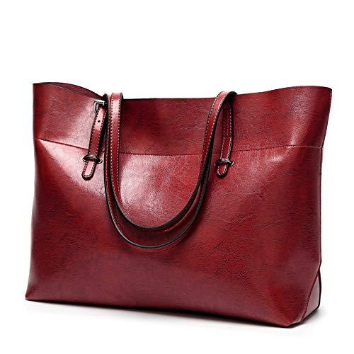 None/Brand Damen Pu Handtaschen, UmhäNgetaschen, Kuriertaschen, BüRotaschen Mit GroßEr KapazitäT, Handtaschen, Damenhandtaschen Rotwein