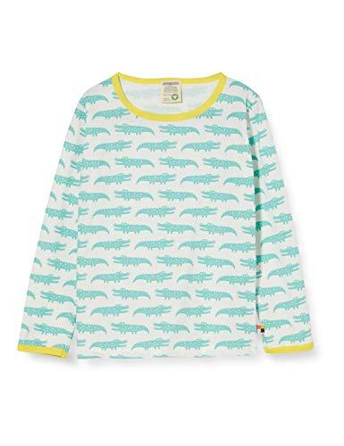 loud + proud Mädchen Longsleeve Shirt Allover Print Organic Cotton Langarmshirt, Grün (Mint Min), (Herstellergröße: 122/128)