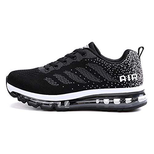 Axcone Damen Herren Sneaker Laufschuhe Air Sportschuhe Kletterschuhe Turnschuhe Running Fitness Sneaker Outdoors Straßenlaufschuhe Sports 833 BK 40EU