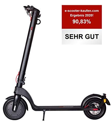 Scoot One E-Scooter E7 - mit Straßenzulassung /ABE, Herausnehmbarer PANASONIC Lithium-Ionen-Akku, 20 km/h, 8,5 Zoll Luftreifen, schwarz