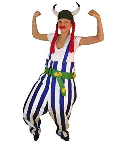 Gallier-Kostüm, TO08Gr. L- XL, mit Helm und Zöpfen!, Gallier-Kostüme, Gallier-Faschingskostüm, Fasching Karneval, Faschings-Kostüme, Geburtstags-Geschenk Erwachsene