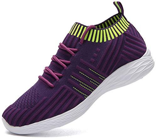 Nishiguang Damenmode Sportschuhe Wanderschuhe (lässig, leicht, atmungsaktiv) Mesh-Laufschuhe(purple37)