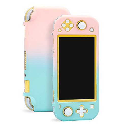 Nintendo Switch Lite Schutzhülle, Hartschale, bunte Schutzhülle, Hartschalenhülle für Nintendo Switch Lite 2019 Rosa / Grün
